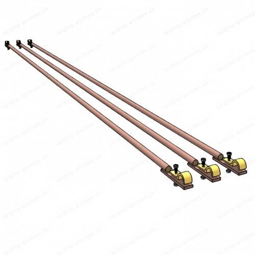 Option barre liaison 180 cm lot de 3, pour demi-arche