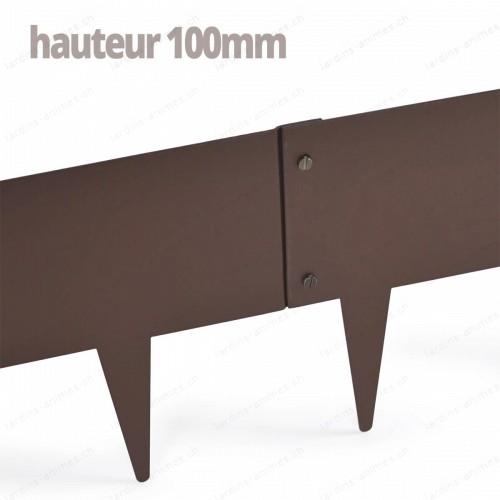 Bordurette Acier 1m - haut.100mm - marron