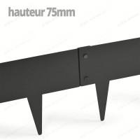 Bordurette Acier 1m - haut.75mm - Gris