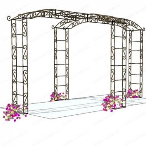 Kiosque de jardín tonnelle 4 pieds rallongé