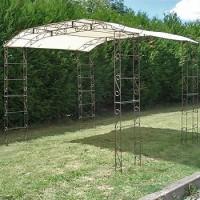 Kiosque de jardin 6.90m2 + toile ombrage
