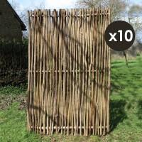 Panneau noisetier 120x180cm tressage vertical X10