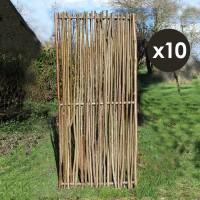 Panneau noisetier 80x180cm tressage vertical x 10
