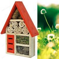 Maison pour insectes toit rouge