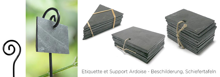 Etiquette et Support Ardoise