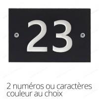 Plaque numéro de maison 2 caractères