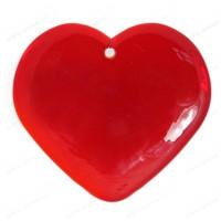 Coeur en verre fait main ROUGE