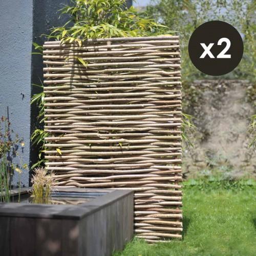 Panneau noisetier 120x180cm tressage horizontal X2