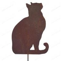 Silhouette chat regardant dans l'air