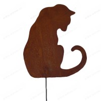 Silhouette chat assis