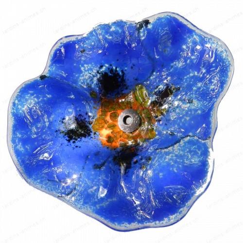 Fleur Coquelicot BLEU FONCE
