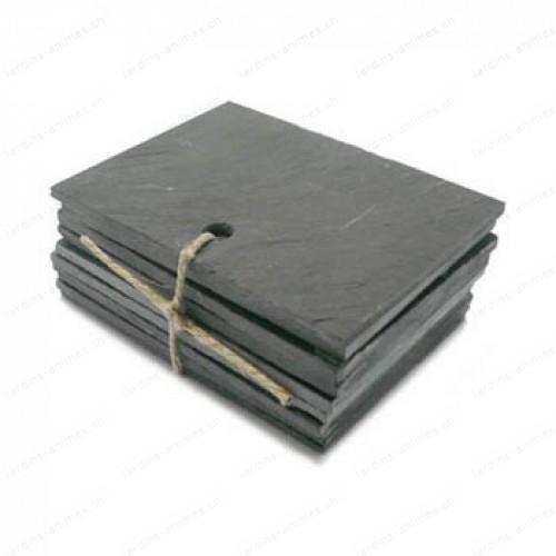Etiquette ardoise rectangulaire 70x50mm x10