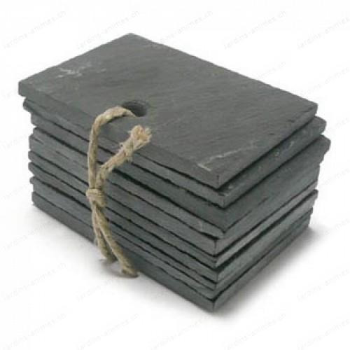 Etiquette ardoise rectangulaire 95x70mm x10