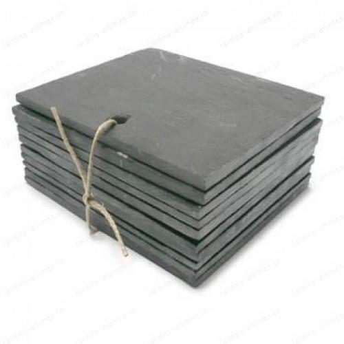 Etiquette ardoise rectangulaire 120x100mm x10