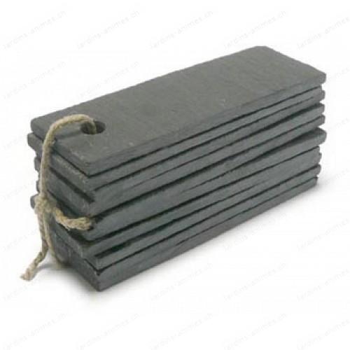 Etiquette ardoise rectangulaire 30x100mm x10