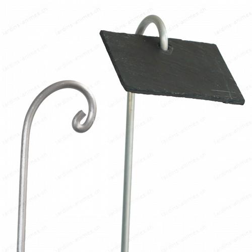 Porte étiquette aluminium 80cm x10